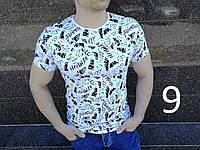 Мужская Летняя Белая Футболка Приталенная Легкая 95% Cotton Футболки Мужские Белые Новые Качественные