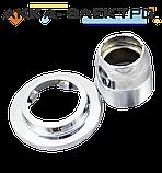 Шайба хромированная для крепления картриджа в смесителе душевой кабины ( ШХ02 ) с наружной резьбой, фото 2