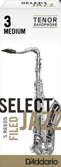 D`ADDARIO RSF05TSX3S Select Jazz - Tenor Sax Filed 3S - 5 Box Трости 5шт для тенор саксофона