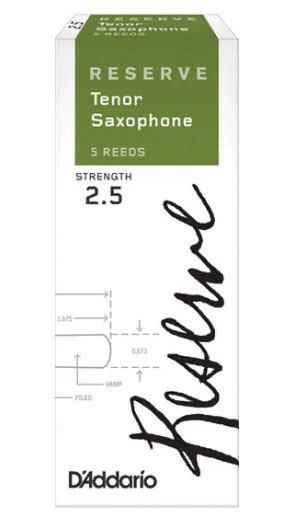 D`ADDARIO Reserve - Tenor Sax 2.5 - 5 Box Трости 5шт для тенор саксофона