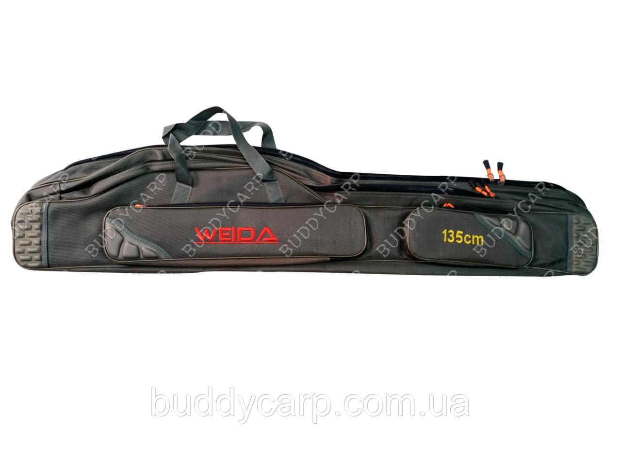 Чехол 135 см 2 отсека полужесткий Weida (Kaida)