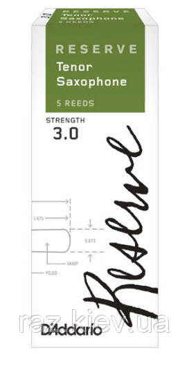 D`ADDARIO Reserve - Tenor Sax 3.0+ - 5 Box Трости 5шт для тенор саксофона