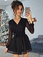 Праздничное платье из сетки -добби