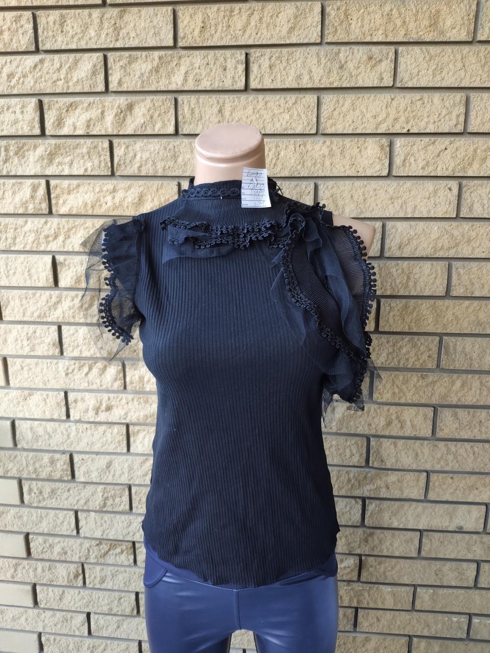 Блузка женская коттоновая с кружевом RORG