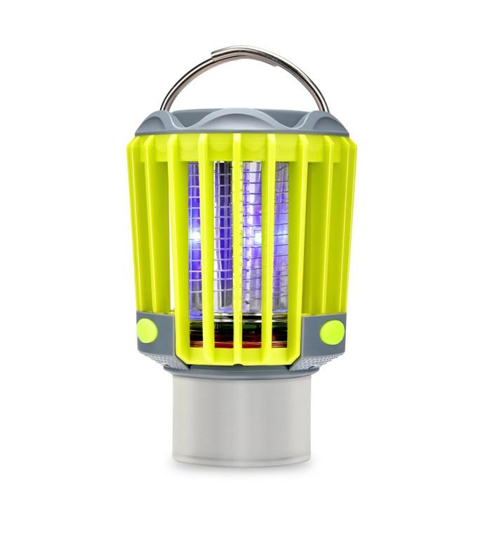 Ліхтар для кемпінгу SUNROZ M2 Mosquito Killer Lamp знищувач комарів і комах 3 в 1 Сіро-Жовтий (SUN4559)