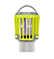 Ліхтар для кемпінгу SUNROZ M2 Mosquito Killer Lamp знищувач комарів і комах 3 в 1 Сіро-Жовтий (SUN4559), фото 1