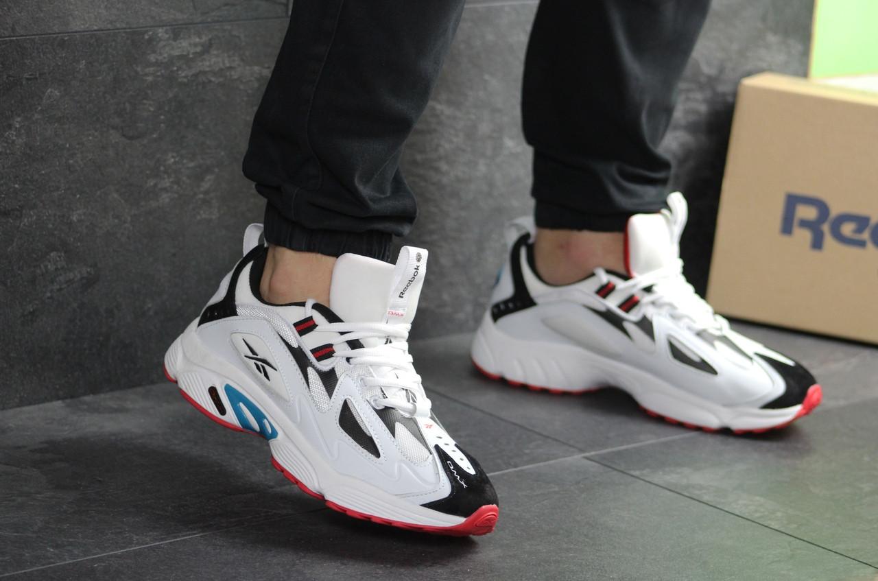 Мужские кроссовки Reebok Dmx белые 46р