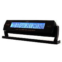 Автомобільні годинник з термометром VST 7013V Black (2_000049)