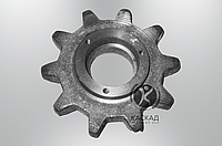 Звёздочка z-10,t-38,1 ЗМ-60 ЗП 02.103 под подшипник (запчасти на зернометатель зм-60)