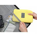 Органайзер дорожный для гаджетов Monopoly Cable Pouch (желтый), фото 7