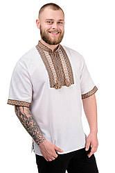 """Мужская сорочка """"Вышиванка"""" бежевый"""