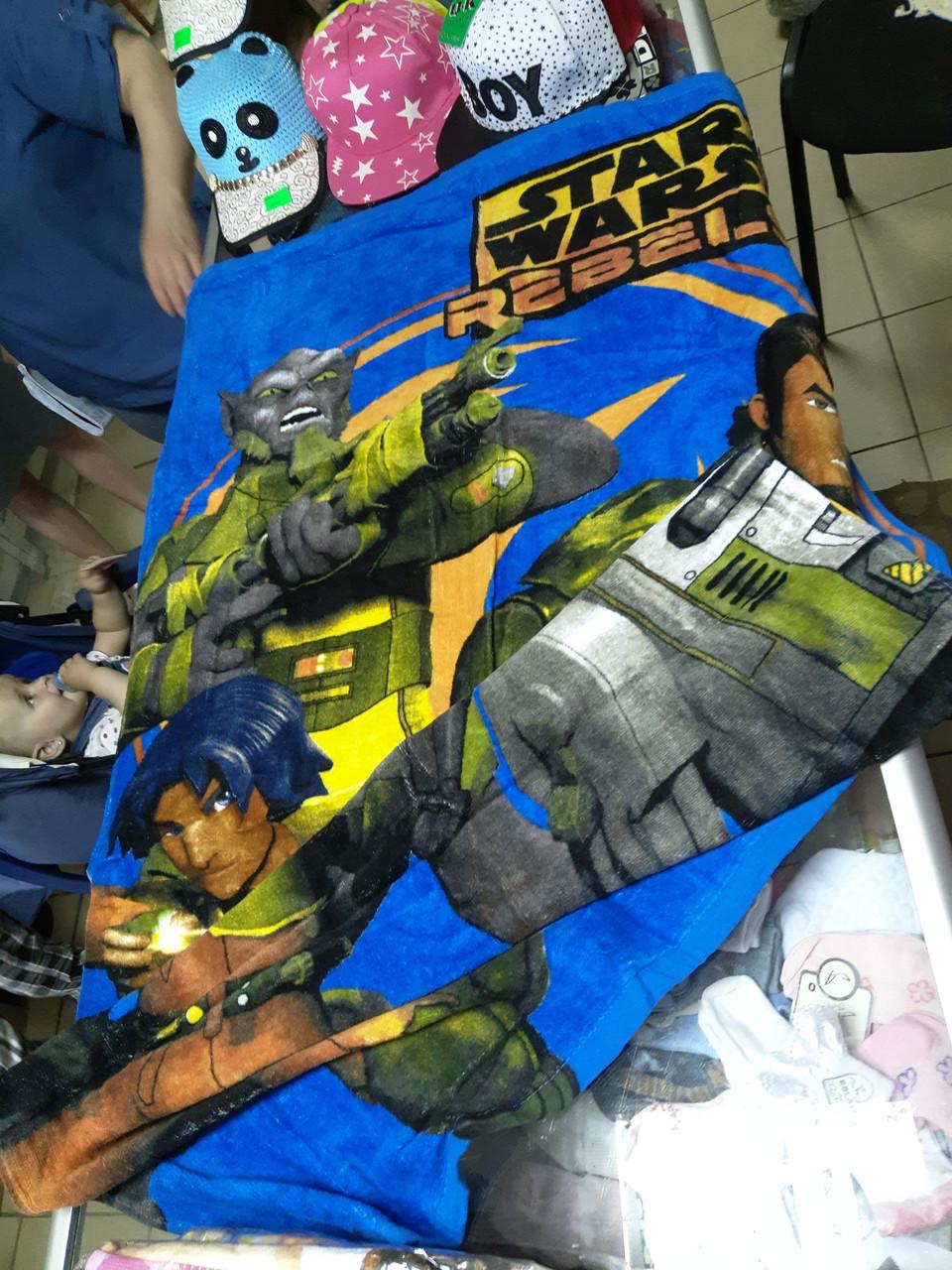 Полотенце детское пляжное 3Д хлопковое Зведные войны.