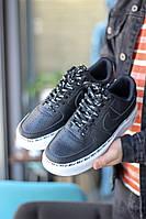 Кроссовки Nike Air Force 1 SE Premium Black White (реплика +ААА), фото 1
