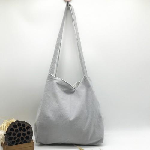 Сумка пляжная текстильная летняя, светло-серый