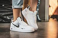 Кроссовки мужские Nike Air Force 1 '07 Lv8 Utility White натуральная кожа (реплика +ААА), фото 1