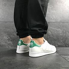 Кроссовки мужские Adidas Stan Smith белые с зеленым, фото 3