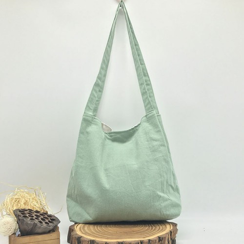 Сумка пляжная текстильная летняя, светло-зеленый
