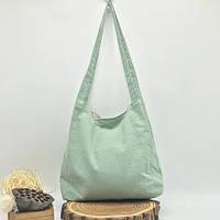 Сумка пляжная текстильная летняя, светло-зеленый, фото 1