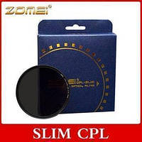 Поляризационный светофильтр ZOMEI 58 мм CPL - SLIM - DW1 Wide Band PRO C-PL (ультратонкий), фото 1