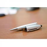 Ручка-флешка со стилусом USB 16 Гб, цвет Серебро - su 91311695, фото 4