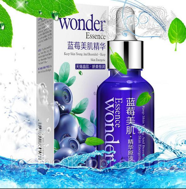 Сыворотка - праймер с гиалуроновой кислотой Bioaqua Wonder essence с экстрактом черники оригинал