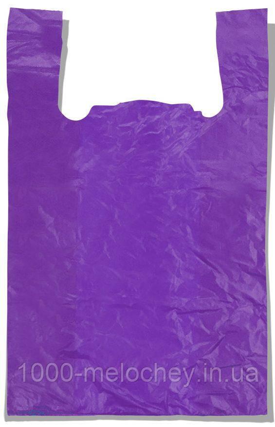 """Пакет-майка """"Супер"""" Comserv фіолетовий (50×80) 100 шт"""