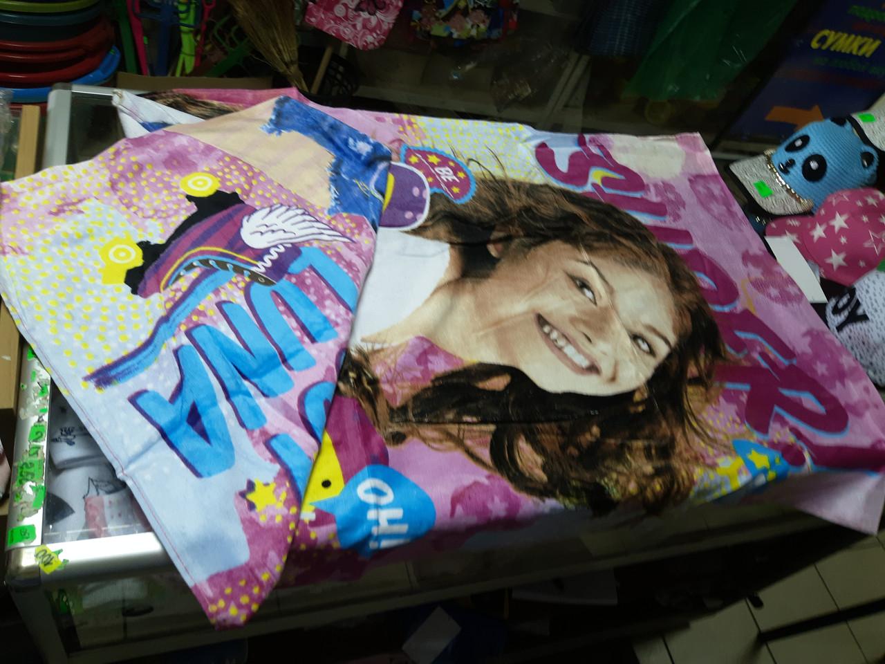 Пляжне рушник дитяче бавовняне для дівчинки