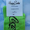 Носки Мужские в стиле Coca Cola салатовые размер 41-45, фото 2