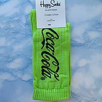 Носки Мужские в стиле Coca Cola салатовые размер 41-45