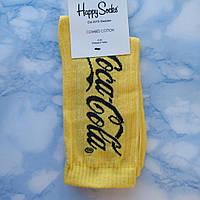 Носки Мужские в стиле Coca Cola желтые размер 41-45