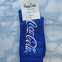 Носки Мужские в стиле Coca Cola синие размер 41-45