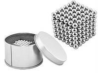 Неокуб срібний (NeoCube silver), 216 шт. 5mm, магнітний конструктор-головоломка, фото 1