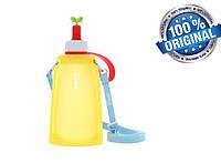 Силиконовая бутылка для воды Джумони, желтый, фото 1