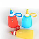 Силіконова пляшка для води Джумони, синій, фото 6