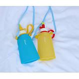 Силіконова пляшка для води Джумони, синій, фото 7