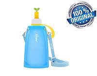 Силиконовая бутылка для воды Джумони, синий, фото 1
