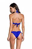 Купальник женский раздельный халтер от бренда  Maryssil яркий синий размер S M, фото 2