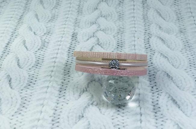 Браслет пудро-розовый с манеткой на магните, фото 2