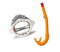 Набор 2 в 1 для плавания Intex 55944 «Акула», (маска 55915: размер S, (3+), обхват головы ≈ 50 см, трубка 55922)