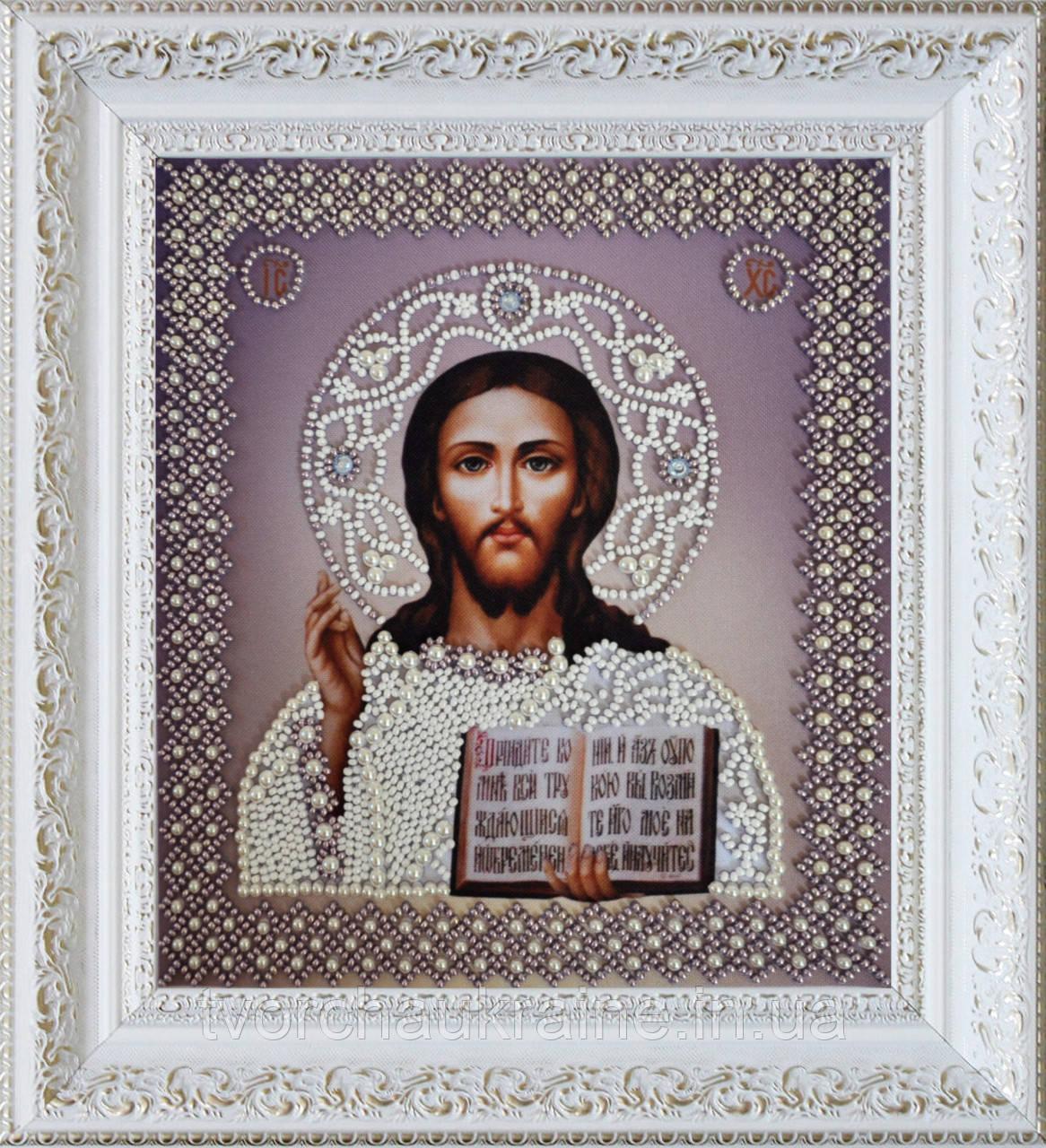 Набор для вышивания бисером «Икона Христа Спасителя. Венчальная пара»