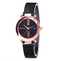 Женские часы Starry Sky Watch на магнитной застёжке Черные