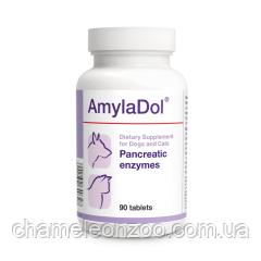 Амиладол 90 табл Долфос- пищеварительные энзимы для собак и кошек