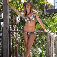 Купальник раздельный   бикини ,уплотненная чашка , от бренда  LARISSA MINATTO, яркий с тропическим принтом