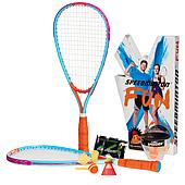 Набор - ракетки, воланы, ставки - для скоростного бадминтона (спидминтона, кроссминтона) Speedminton FUN Set