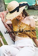 Соломенная шляпа c бантом