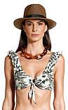 Купальник раздельный  бикини  LARISSA MINATTO яркий с тропическим принтом  размер  S M, фото 4