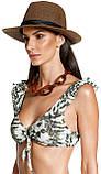 Купальник раздельный  бикини  LARISSA MINATTO яркий с тропическим принтом  размер  S M, фото 5