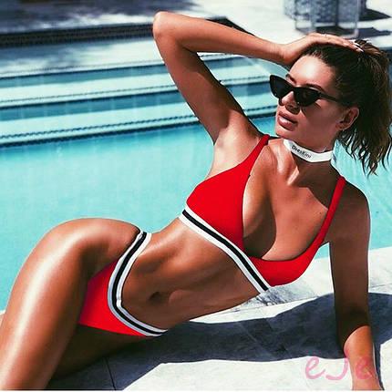5543c9374f0d Раздельный женский купальник в спортивном стиле на резинке р 42-44
