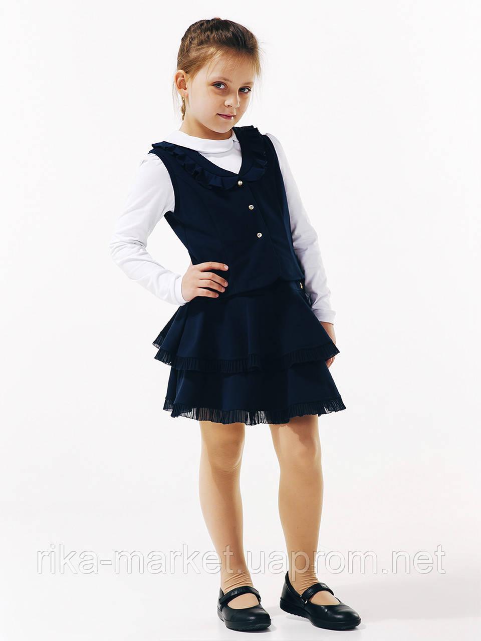 Классический жилет для девочки, ТМ Смил, 116402, возраст 11 - 12 лет