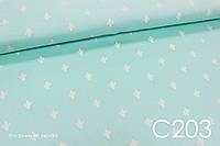Ткань сатин Кактусы на мятном, фото 1